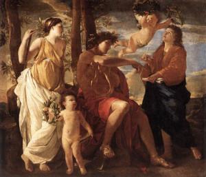Натхнення поета (Аполлон і муза) Нікола Пуссен, 1630 р. Париж, Лувр.