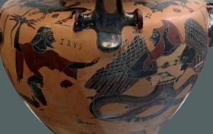 Зевс кинув свою блискавку на Тіфона. 550 рік до н.е.
