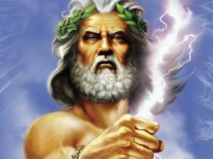 Зевс  — син Кроноса й Реї, верховний бог греків, цар і батько богів та людей.