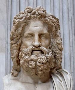 Бюст Зевса, знайдений в Отриколі, Музей Піо-Клементіно. Верховний бог, Бог неба і погоди, Бог порядку та правосуддя.