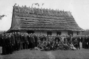 Сотня УПА на відпочинку. Середина 1940-х