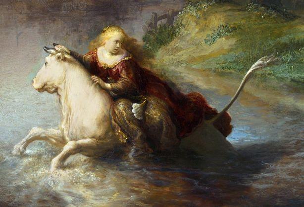 Рембрандт: Викрадення Європи (1632, Музей Гетті)