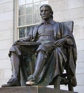 Пам'ятник Джону Гарварду, на честь якого університет отримав свою назву