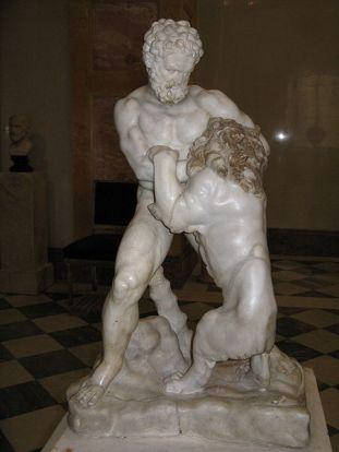Битва Геракла з Немейський левом. Римська копія оригіналу роботи Лисиппа.