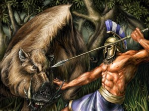 Еріманфський кабан і битва з кентаврами (п'ятий подвиг Геракла)