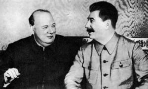 Черчилль і  Сталін, Москва, 1942