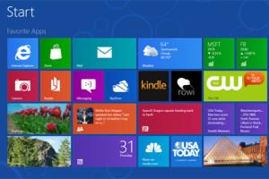Стартовий екран Windows 8