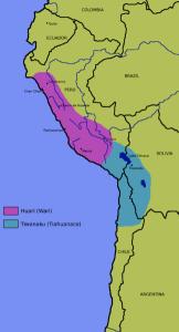 Поширення культур Уарі та Тіуанако