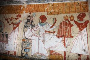 Розпис на стіні знайденої гробниці  Фото: AP Photo/Supreme Council of Antiquities