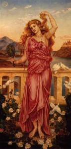 Картина 1898 р. роботи Евелін де Морган Найвродливіша з жінок і одна з найпопулярніших героїнь давньогрецького епосу