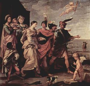 Гвідо Рені. Викрадення Єлени. 1631 Париж. Лувр.