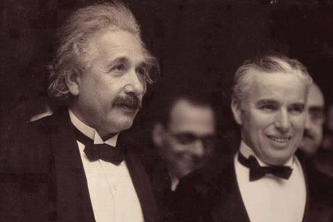 Ейнштейн з Чарлі Чапліном