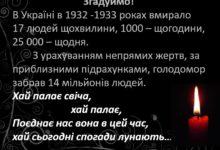 Photo of Урок пам'яті жертв голодоморів + Презентація