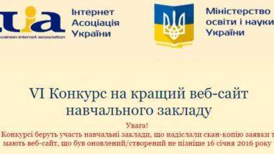 Photo of 15 грудня стартує Всеукраїнський конкурс на кращий веб-сайт закладу освіти