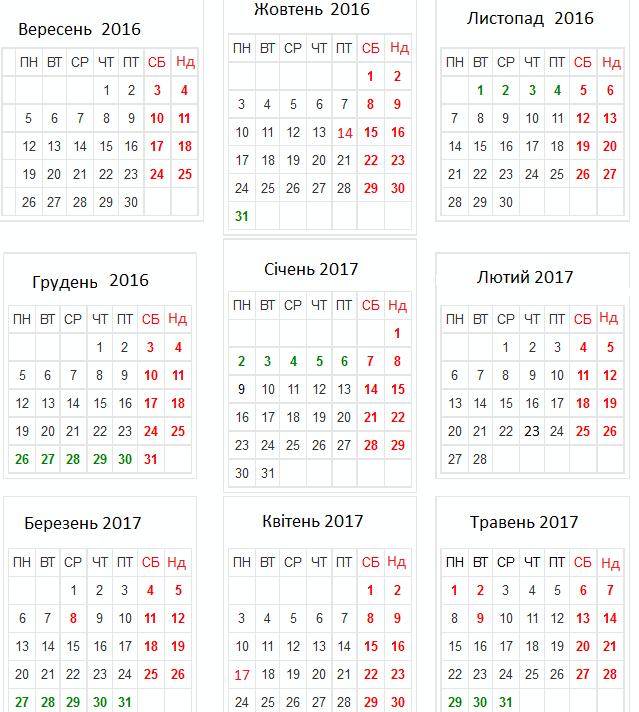 Календар учителя-Шкільне життя